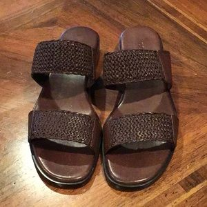 "Brown ""Cole Haan"" Slip On Sandals - Size 8 1/2B"
